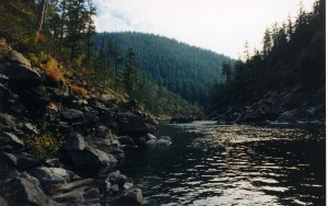 Looking down the North Fork Smith River to Siskiyou Land Conservancy's Stony Creek parcel. Photo by Greg King.